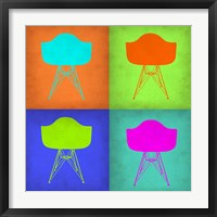Framed Eames Chair Pop Art 1