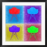 Framed Eames Chair Pop Art 3