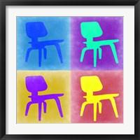 Framed Eames Chair Pop Art 4