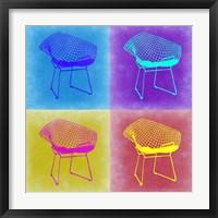 Framed Brickel Chair Pop Art 2