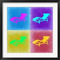 Framed Lounge Chair Pop Art 2