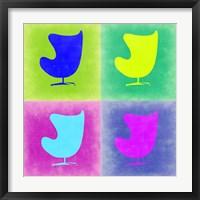 Framed Egg Chair Pop Art 1