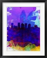 Framed Phoenix Watercolor Skyline 1