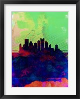 Framed Pittsburgh Watercolor Skyline
