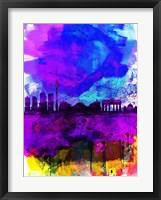 Framed Berlin Watercolor Skyline