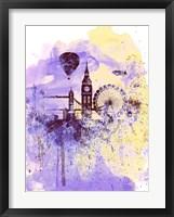 Framed London Watercolor Skyline