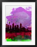 Framed Sydney Watercolor Skyline 2
