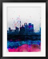 Framed Tokyo Watercolor Skyline