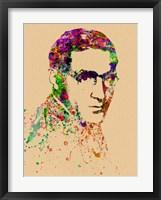 Framed Benny Goodman Watercolor