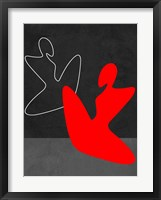 Framed Red Girl 1