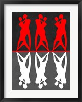 Red and White Dance Framed Print