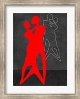Framed Red Couple Dance