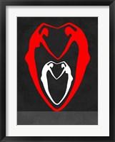 Framed Red and White Heart