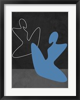 Framed Blue Girl