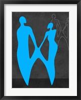 Framed Blue Couple