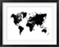 Framed Black Dotted World Map