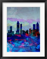 Framed Atlanta Watercolor Skyline