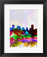 Framed Baltimore Watercolor Skyline