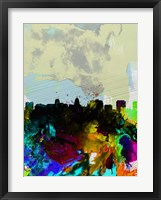 Framed Madison Watercolor Skyline