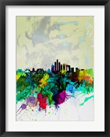 Framed Beijing Watercolor Skyline
