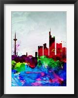 Framed Frankfurt Watercolor Skyline