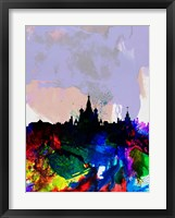 Framed Moscow Watercolor Skyline