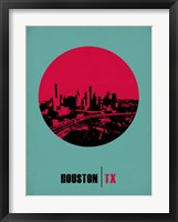 Framed Houston Circle 2