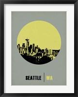 Framed Seattle Circle 2