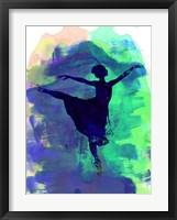 Framed Ballerina's Dance Watercolor 2