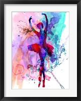 Framed Ballerina's Dance Watercolor 3