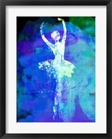 Framed Ballerina's Dance Watercolor 4