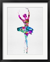 Framed Ballerina Watercolor 1