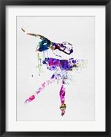 Framed Ballerina Watercolor 2