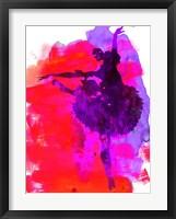 Framed Ballerina Watercolor 3