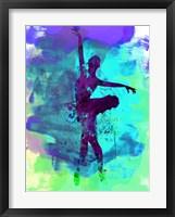 Framed Ballerina Watercolor 4B