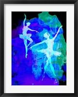 Framed Two White Dancing Ballerinas