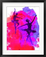 Framed Two Dancing Ballerinas
