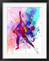 Framed Romantic Ballet Watercolor 3