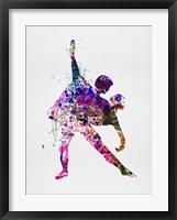 Framed Romantic Ballet Watercolor 4