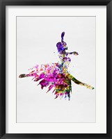 Framed Ballerina on Stage Watercolor 4