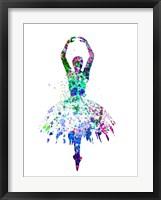 Framed Ballerina Dancing Watercolor 4