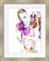 Framed Trainspotting Watercolor 1