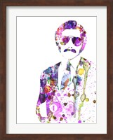 Framed Anchorman Watercolor 1
