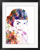 Framed Amelie Watercolor