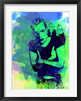 Framed Trainspotting Watercolor 2