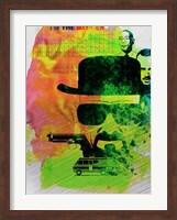 Framed Heisenberg Watercolor