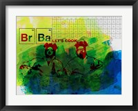 Framed Br Ba Watercolor 1