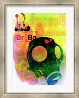 Framed Br Ba Watercolor 3