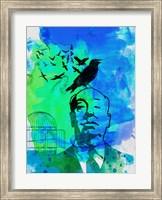 Framed Birds Watercolor
