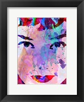 Framed Audrey Watercolor